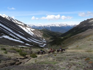 Wilderness Guides Riding through the Valley